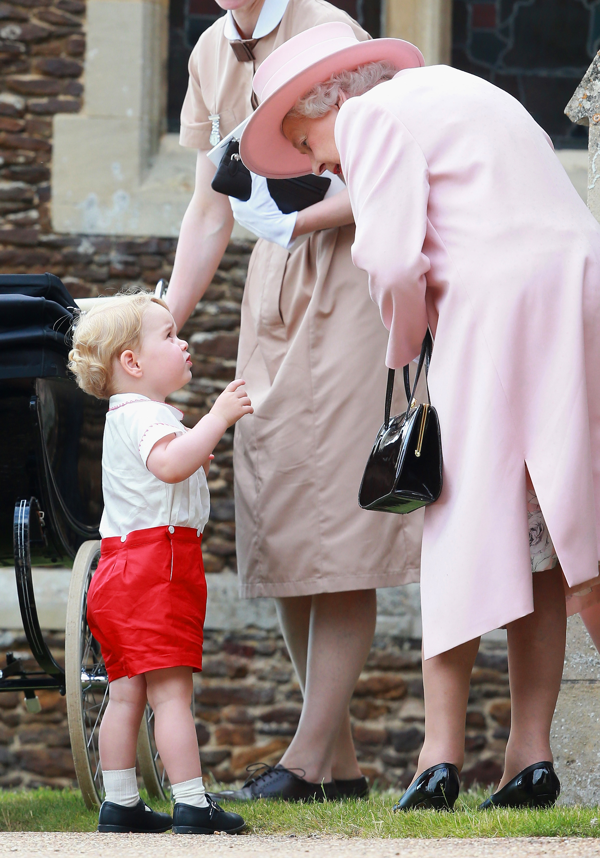 """Royal Family Nicknames - Just like his dad! The Duchess of Cambridge revealed in April 2016 that her eldest son, Prince George , refers to his royal great-grandmother as """"Gan-Gan."""""""