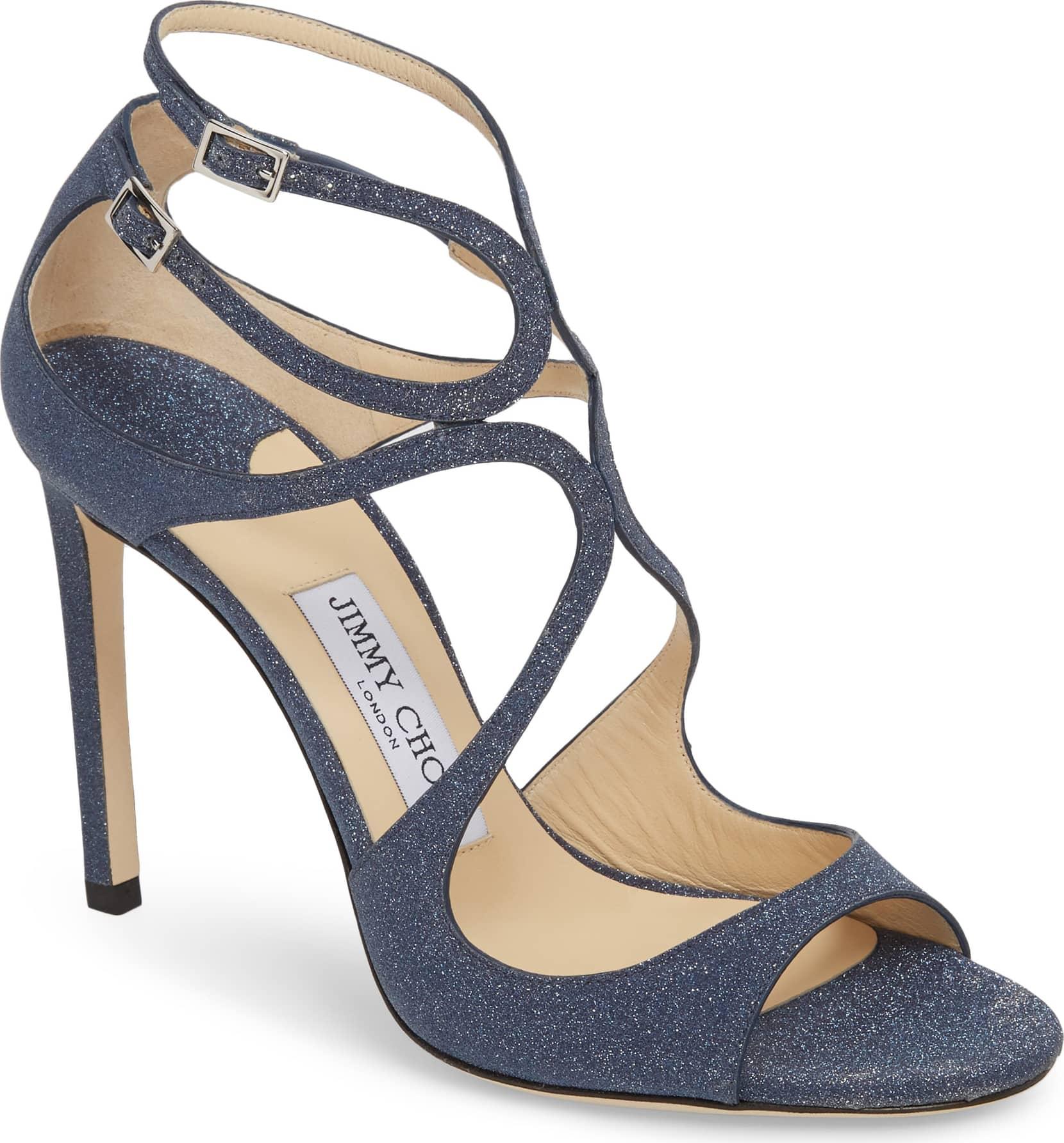 glitter strappy jimmy choo sandal