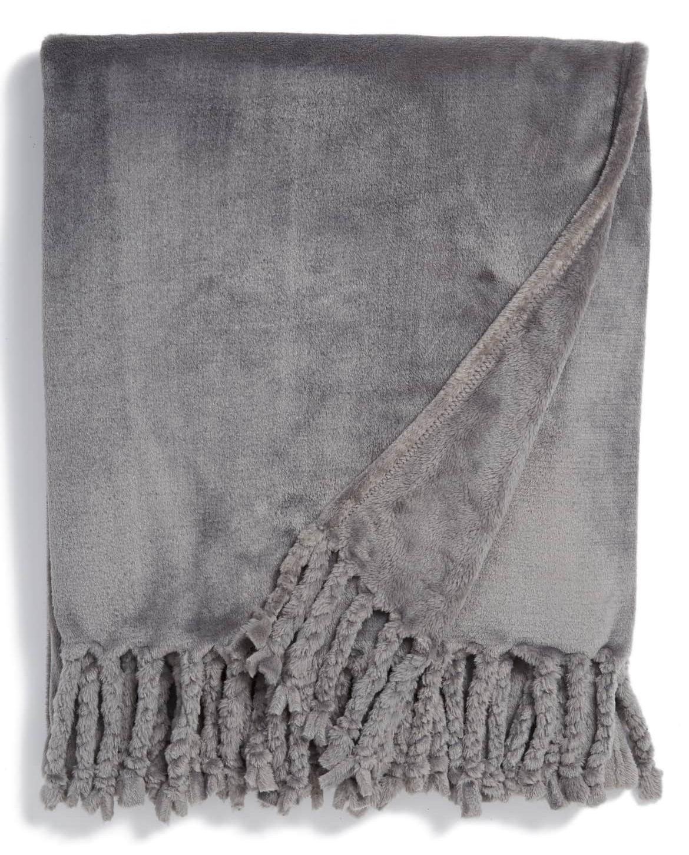 grey plush throw nordstrom