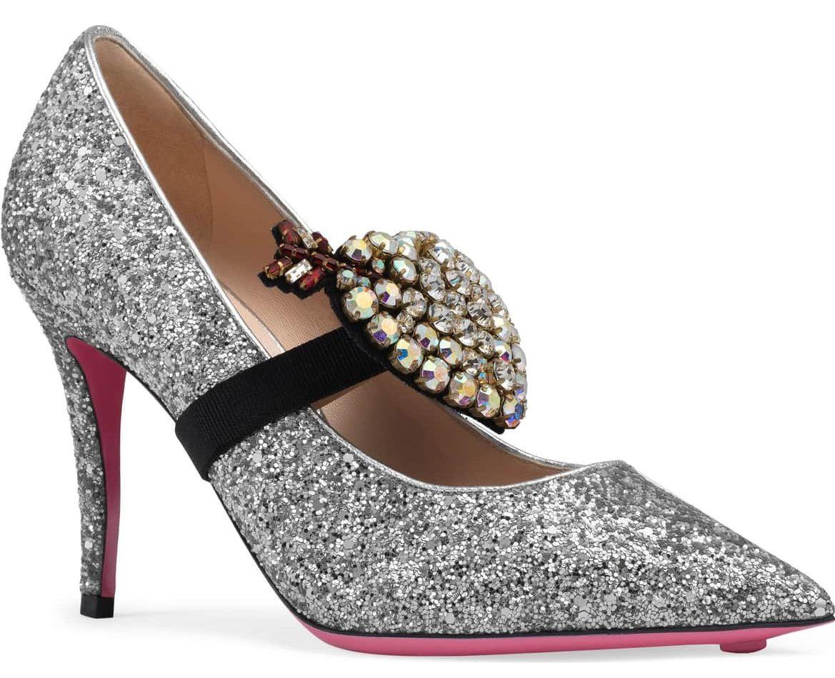 gucci pumps sparkly embellished