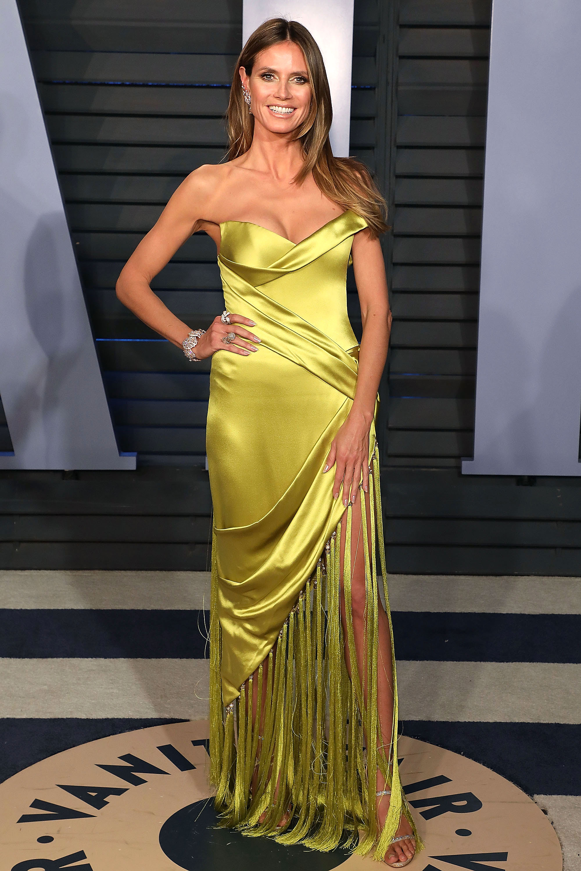 heidi-klum - In chartreuse Ralph & Russo on March 4.