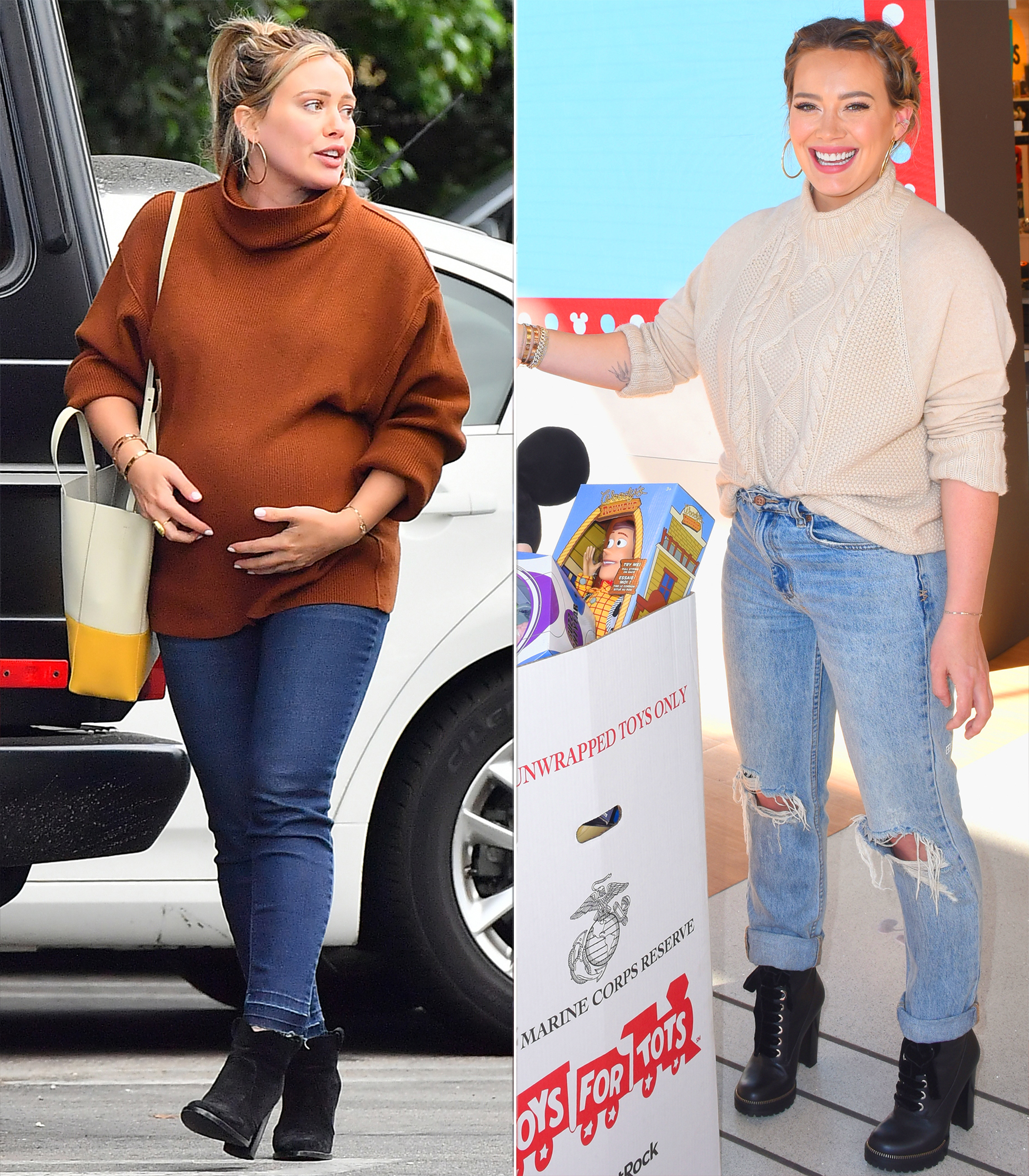 celebrity baby weight loss 2018 - On October 25, the actress, who also has 6-year-old son Luca, welcomed her first baby with boyfriend Matthew Koma, daughter Banks Violet. The 31-year-old took spinning classes at Cycle House throughout her pregnancy — and her efforts showed in her svelte frame on November 26 (right) just one month postpartum.