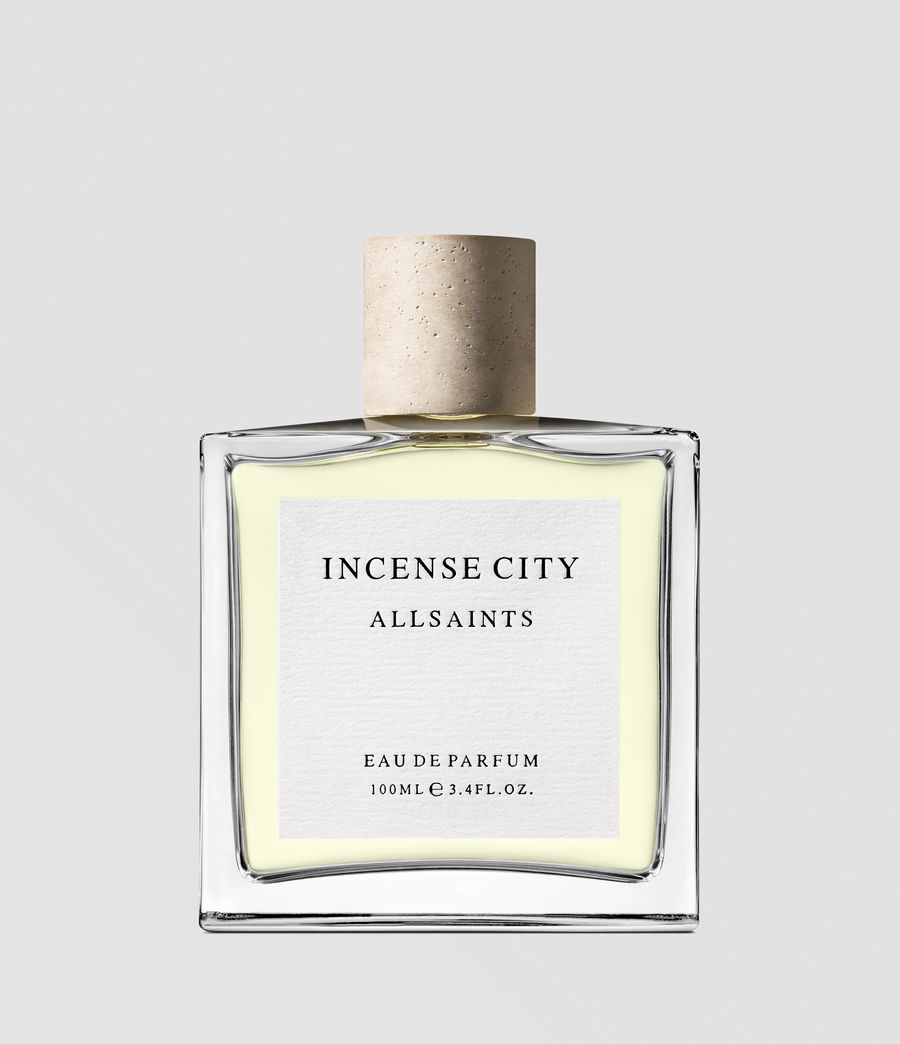 holiday gift guide fragrance- AllSaints - One third of the apparel brand's new unisex fragrance trio, this Eastern-inspired scent balances fresh cyprus with woody musk and smokey top notes for a wintery effect. $79 for 3.4 oz, us.allsaints.com