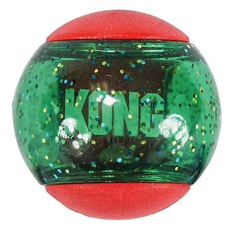 holiday kong toy ball