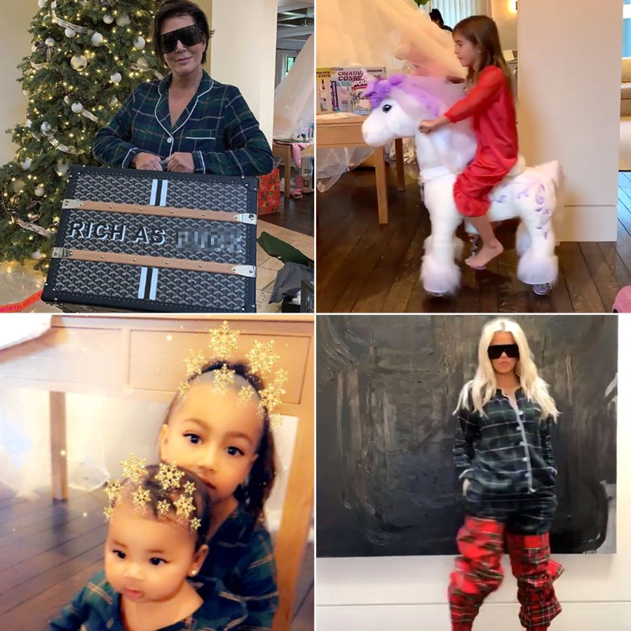 Kardashian Christmas Morning