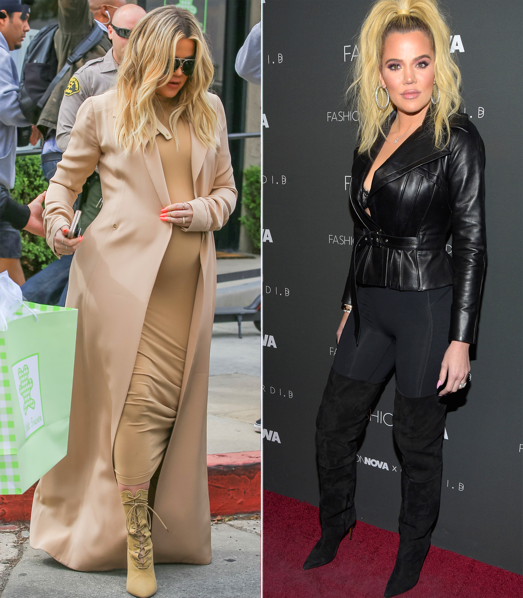 "celebrity baby weight loss 2018 - In July, the Keeping Up With the Kardashians star announced she'd dropped 33 pounds since giving birth to her daughter, True, three months earlier on April 12. On her app, she credited the weight loss to a ""combination of breastfeeding and being very active."""
