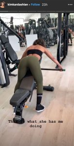 Kim Kardashian Shares Booty-ful Video of Her Exact Workout With Trainer
