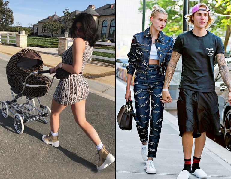 kylie-jenner-stormi-hailey-baldwin-justine-bieber-versace-and-fendi-labels-trends-of-2018