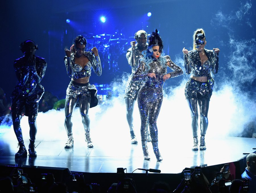 Lady Gaga performs during her 'ENIGMA' residency at Park Theater at Park MGM