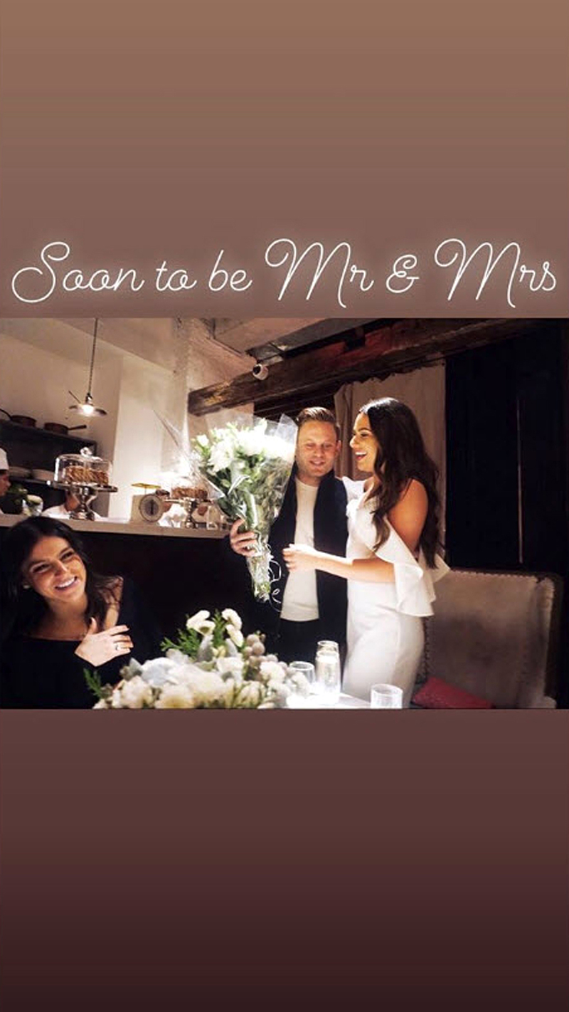 Lea Michele and Fiance Zandy Reich Bridal Shower - Reich appeared to surprise his fiancée with a beautiful bouquet of flowers as she sat at the head of a table.