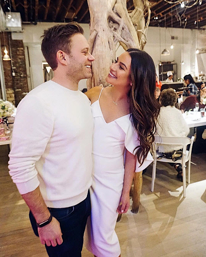 Lea Michele and Fiance Zandy Reich - Michele and her soon-to-be husband looked like pure joy as they gazed into each other's eyes.