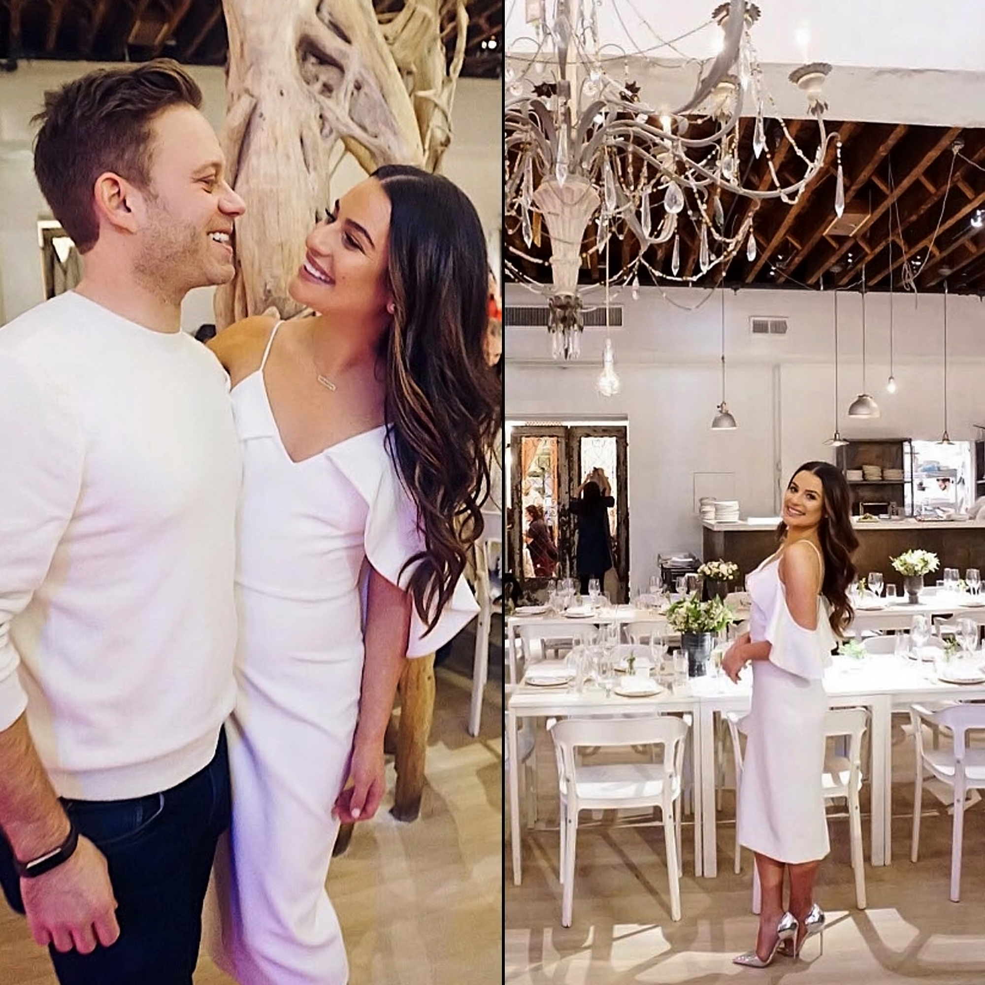 Lea Michele and Fiance Zandy Reich Bridal Shower - Gearing up for the big day! Lea Michele and her fiancé, Zandy Reich , celebrated their wedding shower over the weekend and shared multiple Instagram pictures of the milestone moments on Monday, December 24.