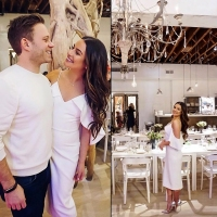 lea michele and fiance zandy reich bridal shower