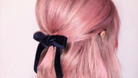 lucy hale pink hair