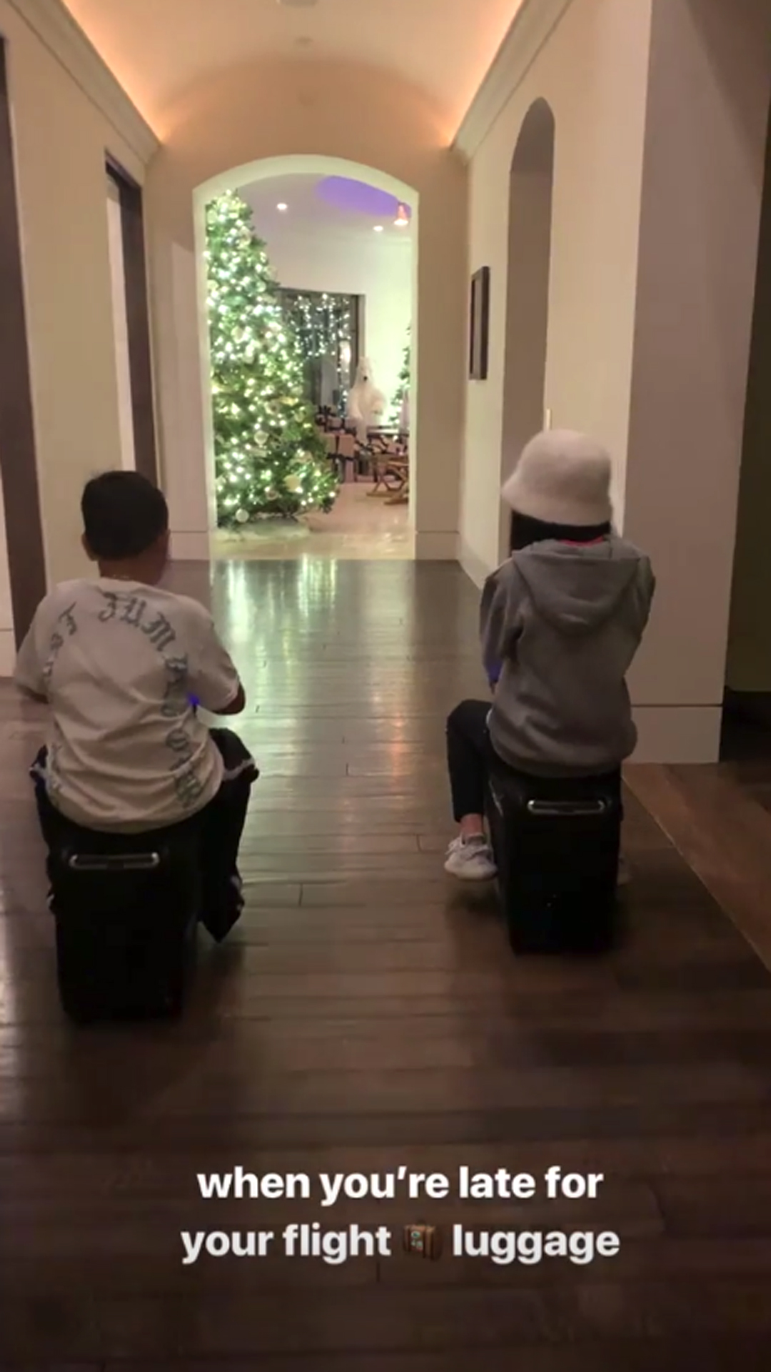 Kourtney Throws Sons a Fortnite-Themed Birthday Party - Mason showed off his new roller luggage that doubles as a form of transportation!