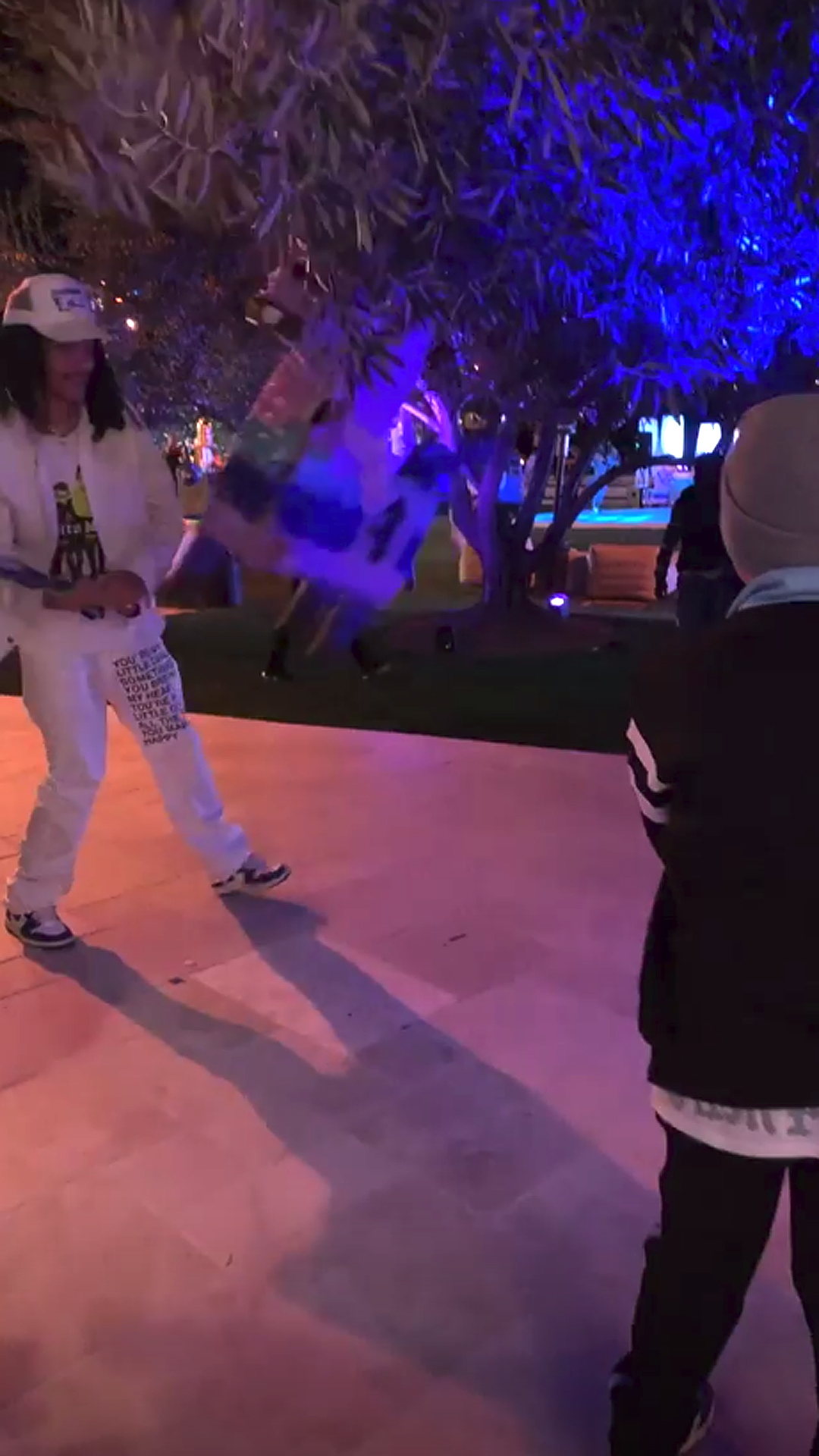 Kourtney Throws Sons a Fortnite-Themed Birthday Party - Mason, whose dad is in Saudi Arabia with girlfriend Sofia Richie , got some good whacks in on a large piñata alongside another guest.