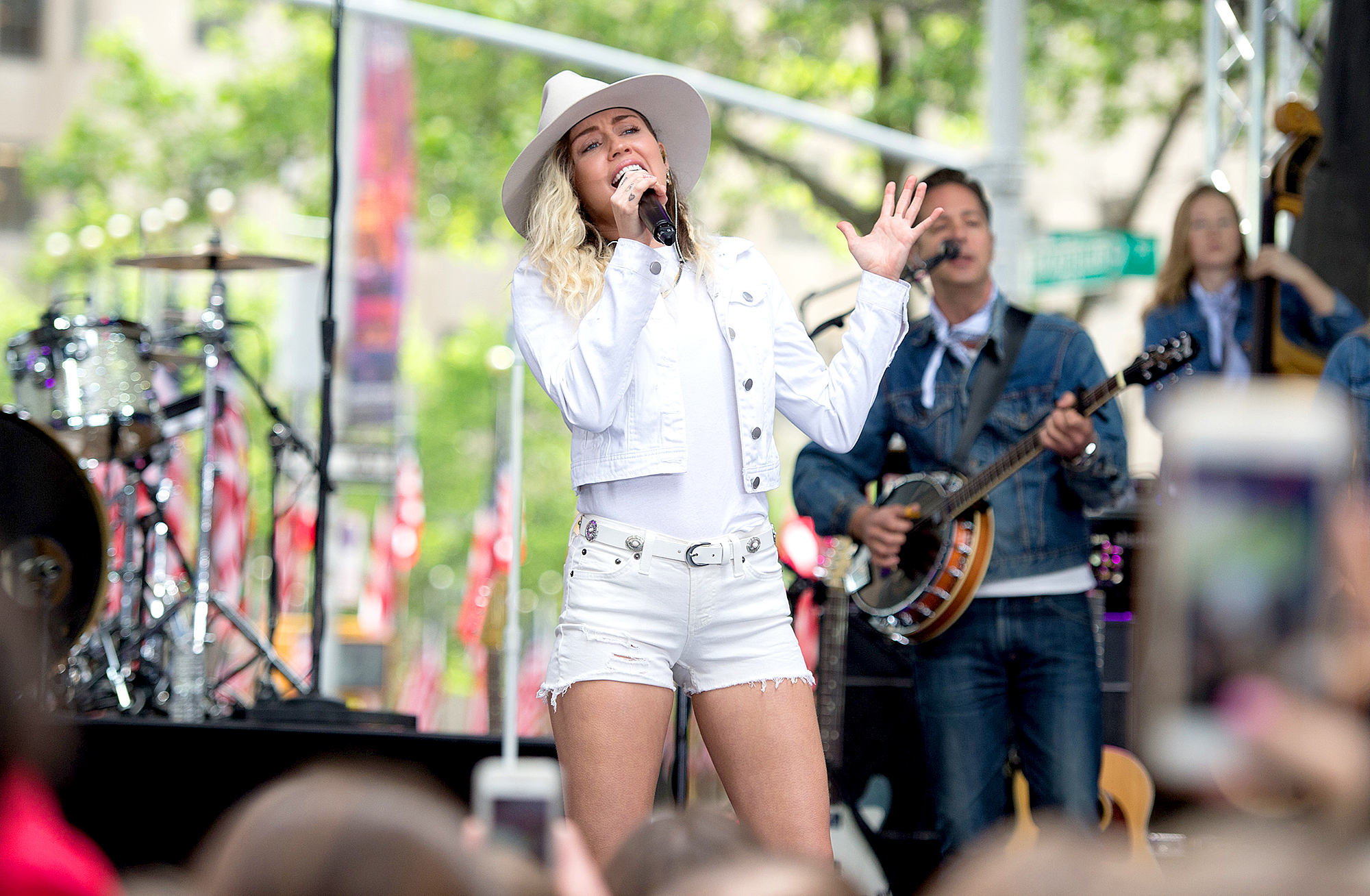 miley-cyrus-2017-performs-today-show - In 2017, Cyrus dropped her Younger Now record and paid tribute to her favorite city, Malibu, with a song named after the beach town. She also rocked a light blonde hairdo.