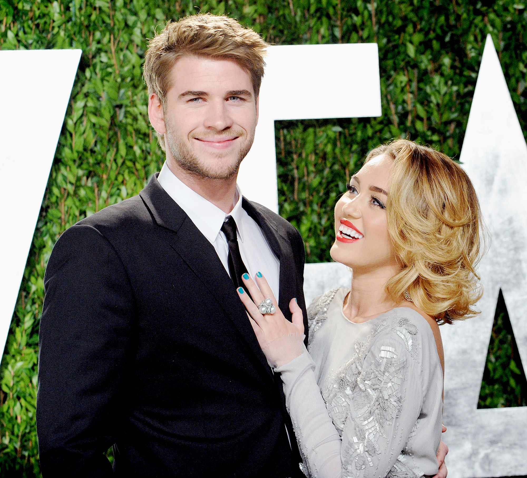 "miley-cyrus-liams-hemsworth-engaged-2012 - The ""Who Owns My Heart"" songstress got engaged to Hemsworth in June 2012. That same year, she also chopped off her auburn locks and began sporting a more cropped hairstyle."