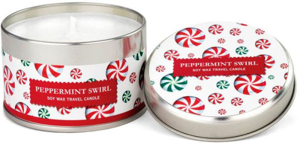peppermint swirl travel candle