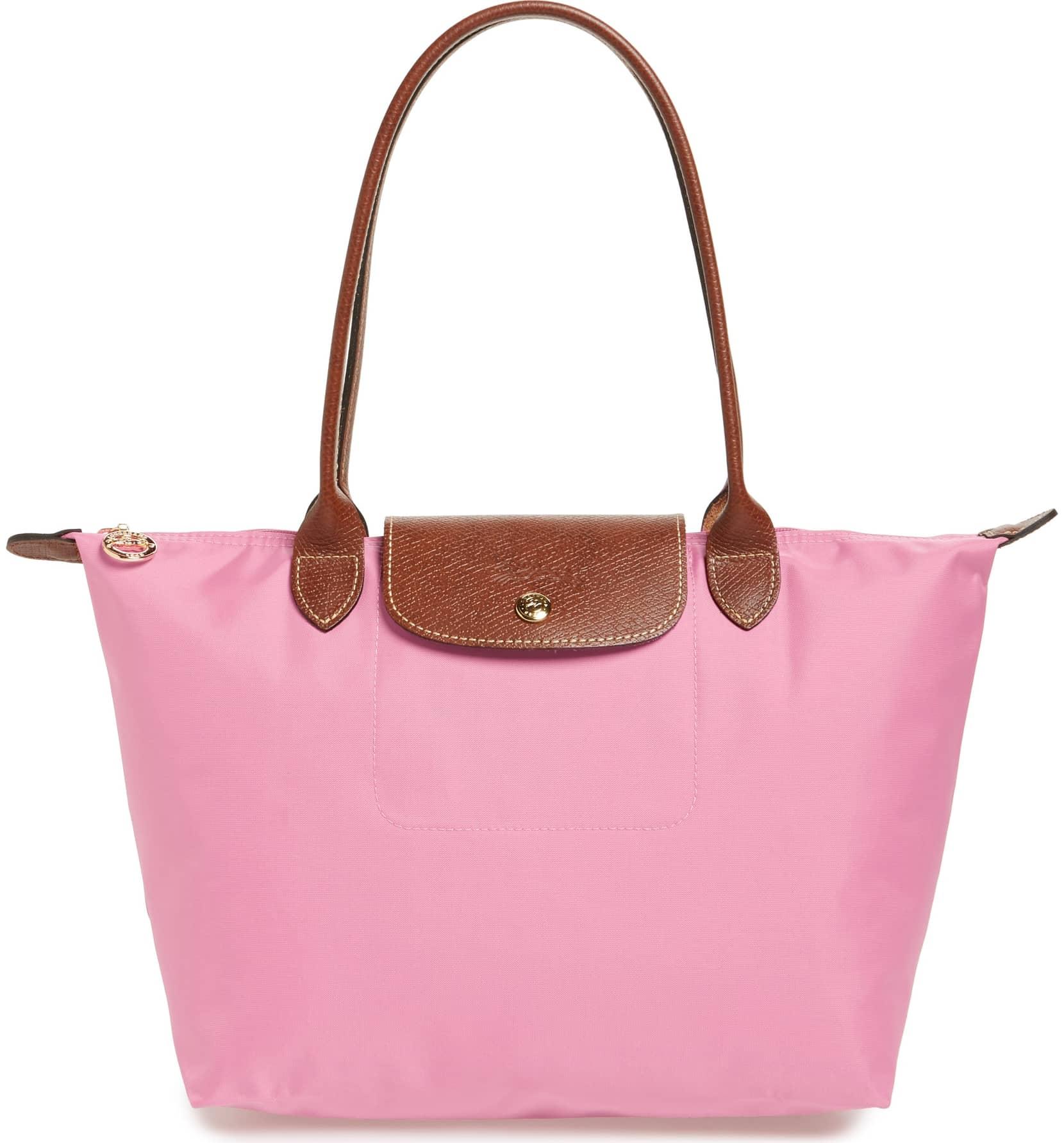 pink longchamp tote