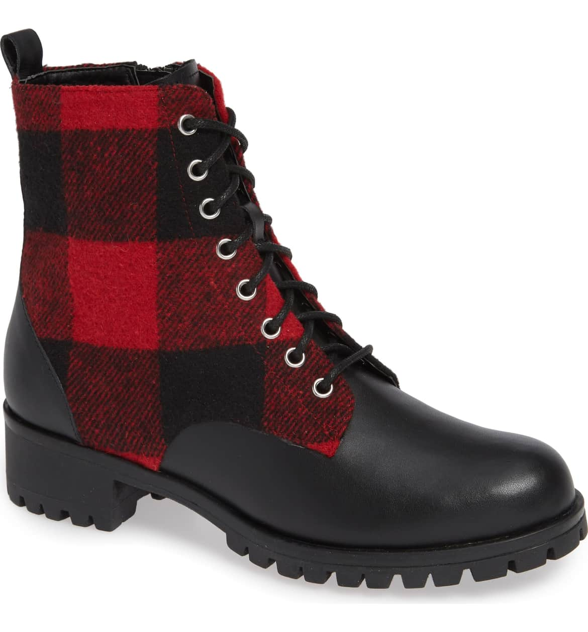 plaid combat boots nordstrom bp brand