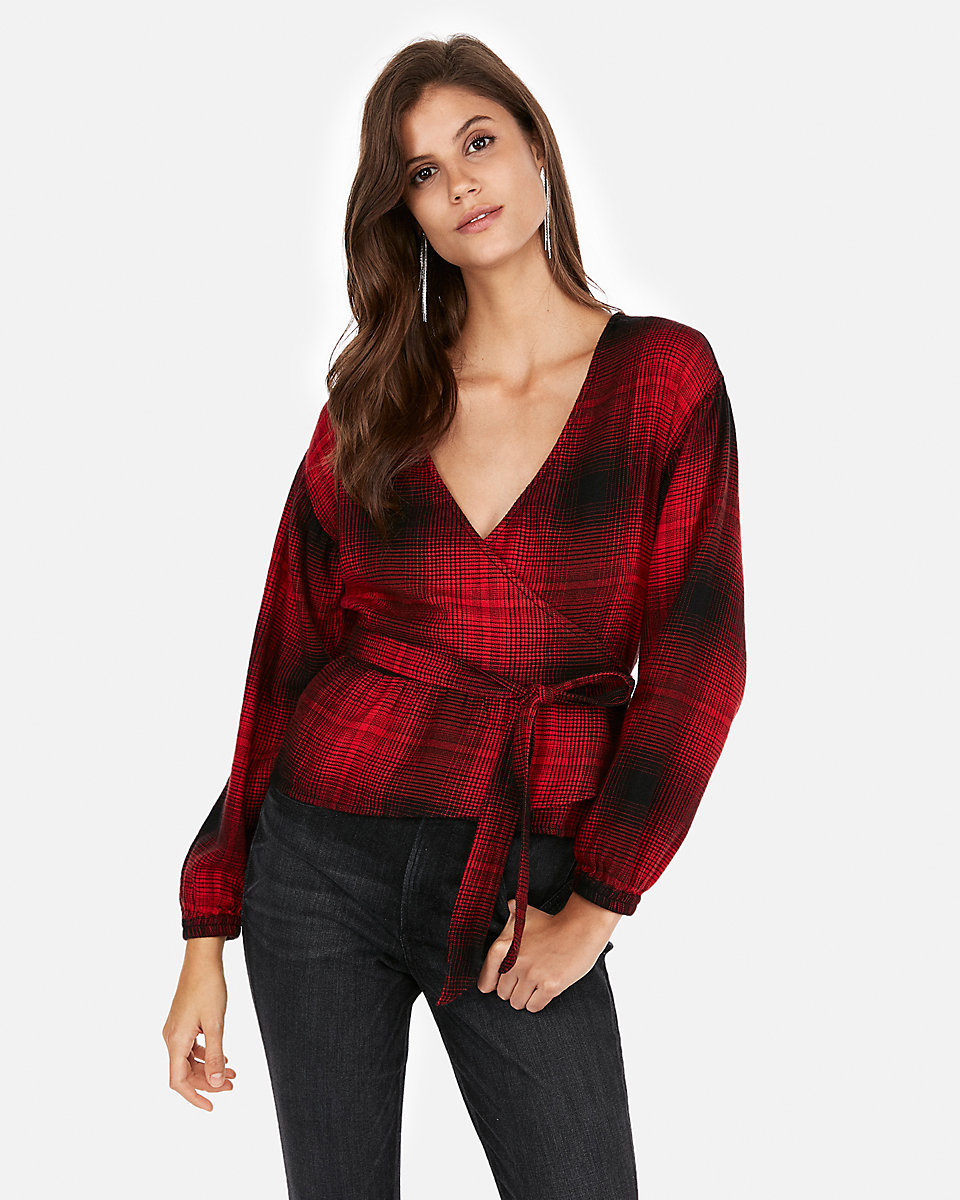 plaid flannel peplum top 2