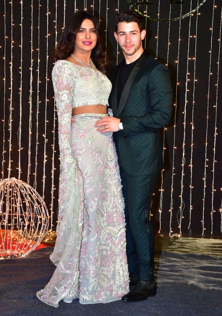Priyanka Chopras 3rd Wedding Reception Two Piece Dress Pics