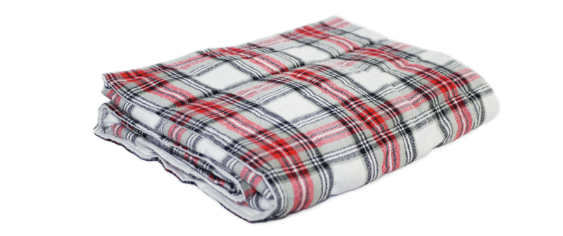 red black and grey plaid weighted blanket