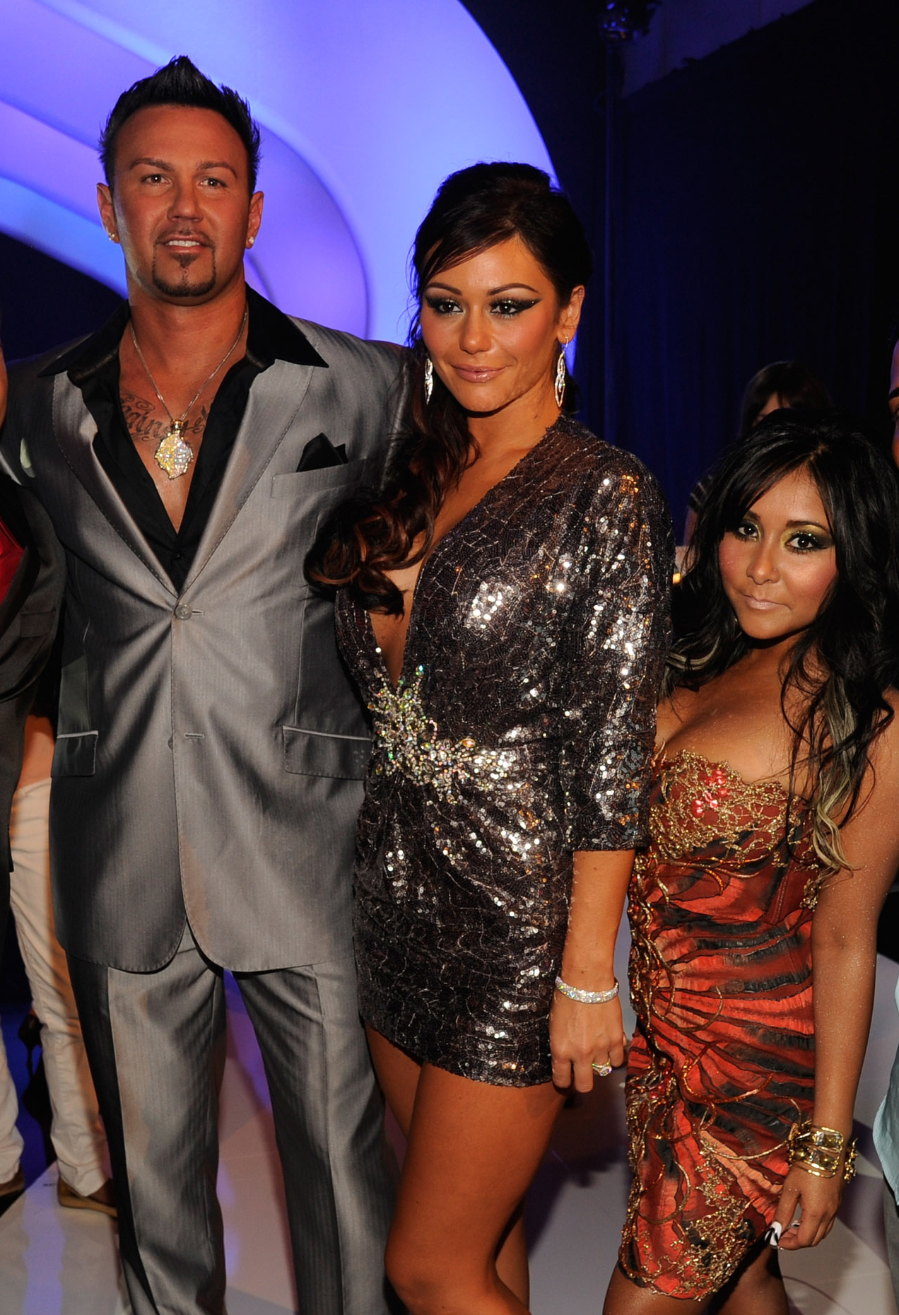 Roger Mathews Slams Snooki Amid Drama With Jen Farley - Roger Mathews, Jenni 'JWoWW' Farley and Nicole 'Snooki' Polizzi and Jionni LaValle arrive at The 28th Annual MTV Video Music Awards on August 28, 2011 in Los Angeles, California.