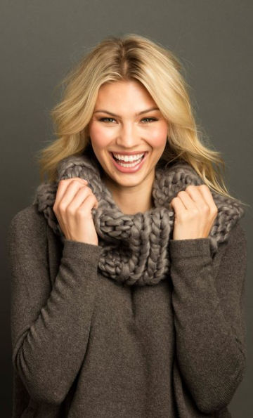 seattle puff snood flannel scarf