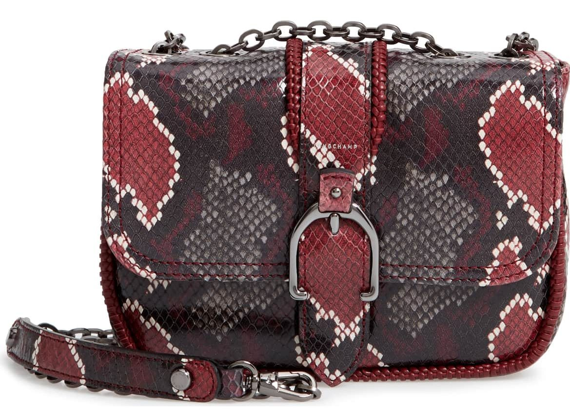 snake print cross body bag
