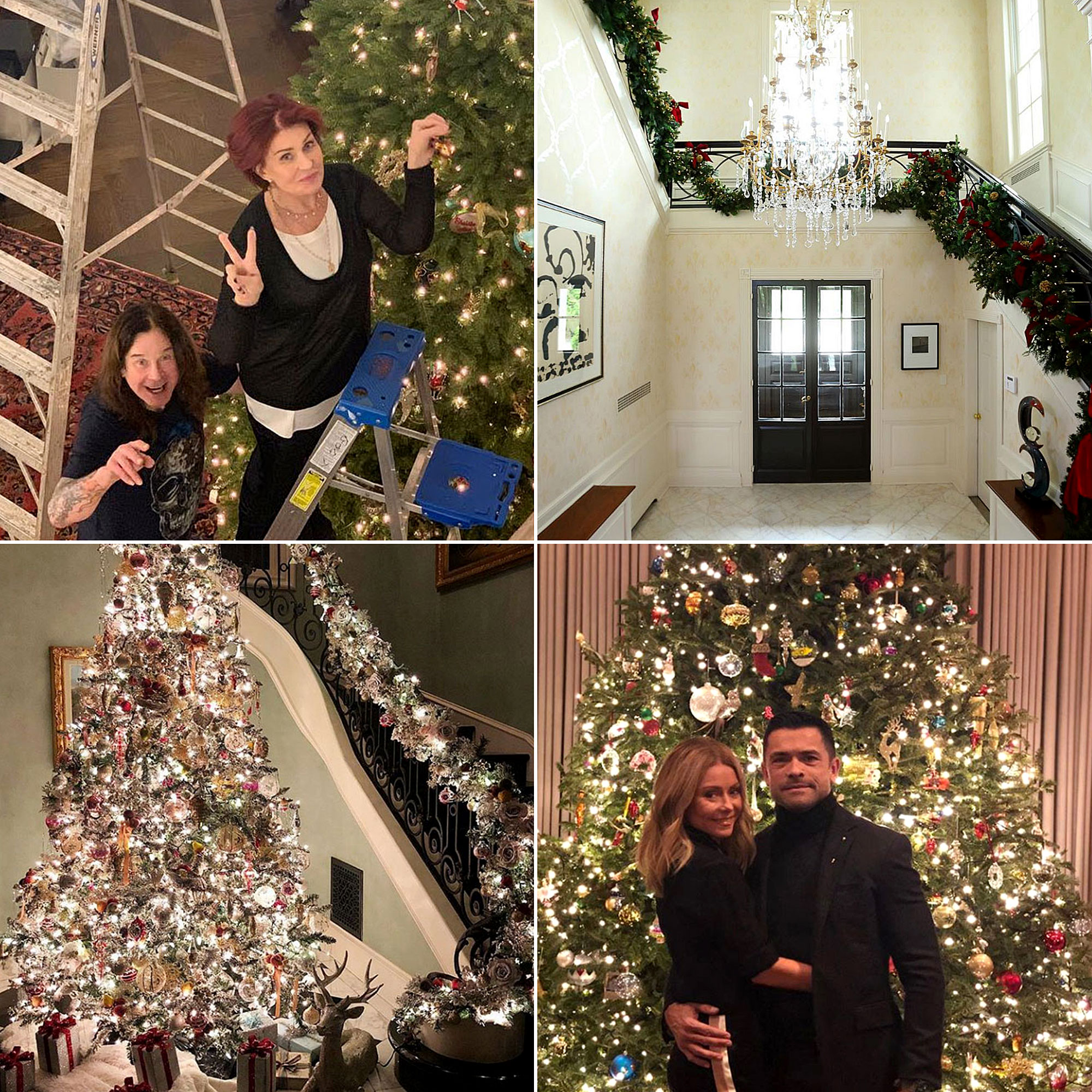 stars go all out with holiday decorations gallery - Seeing is believing! From elaborate trees to beaming lights, celebrities including Kelly Ripa , Ozzy and Sharon Osbourne and more have gotten in the 2018 holiday spirit by decking their halls with lovely decor.