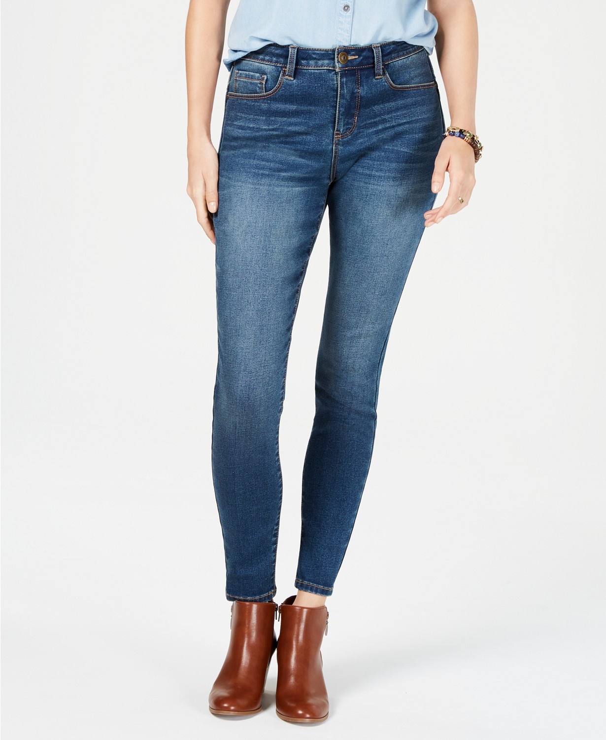 style and co power sculpt curvy-fit skinny jeans
