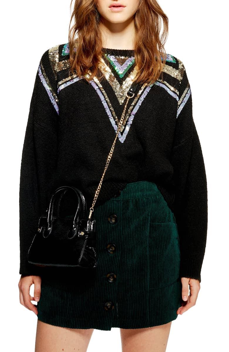 topshop sequin sweater