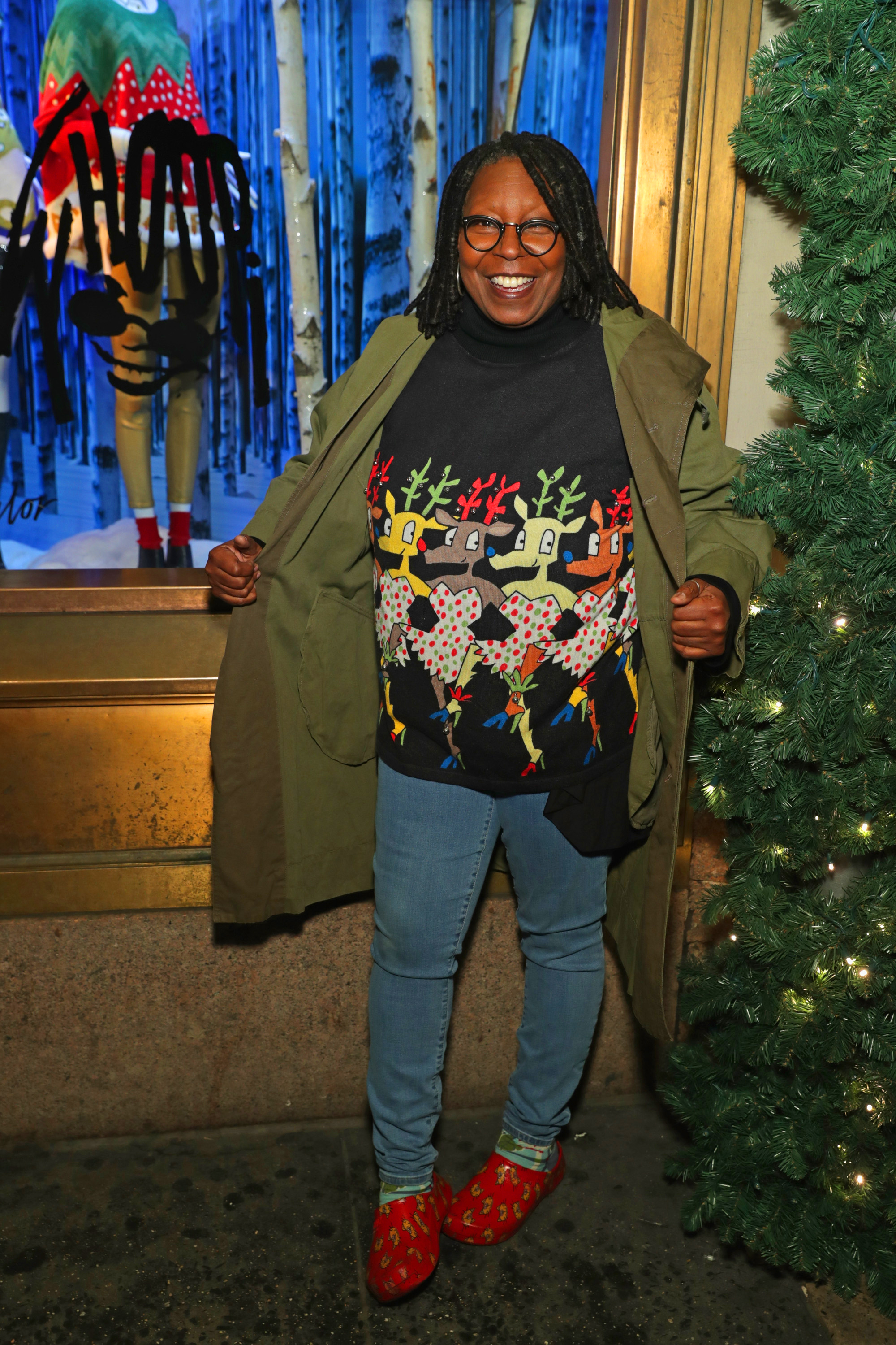"""celebrity ugly christmas sweater - 96 Normal 0 false false false EN-US X-NONE X-NONE /* Style Definitions */ table. MsoNormalTable {mso-style-name:""""Table Normal""""; mso-tstyle-rowband-size:0; mso-tstyle-colband-size:0; mso-style-noshow:yes; mso-style-priority:99; mso-style-parent:""""""""; mso-padding-alt:0in 5.4pt 0in 5.4pt; mso-para-margin:0in; mso-para-margin-bottom:.0001pt; mso-pagination:widow-orphan; font-size:12.0pt; font-family:""""Calibri"""",sans-serif; mso-ascii-font-family:Calibri; mso-ascii-theme-font:minor-latin; mso-hansi-font-family:Calibri; mso-hansi-theme-font:minor-latin;} The View cohost loves ugly Christmas sweaters so much that she has her own collection available at Lord & Taylor and Hudson's Bay!"""