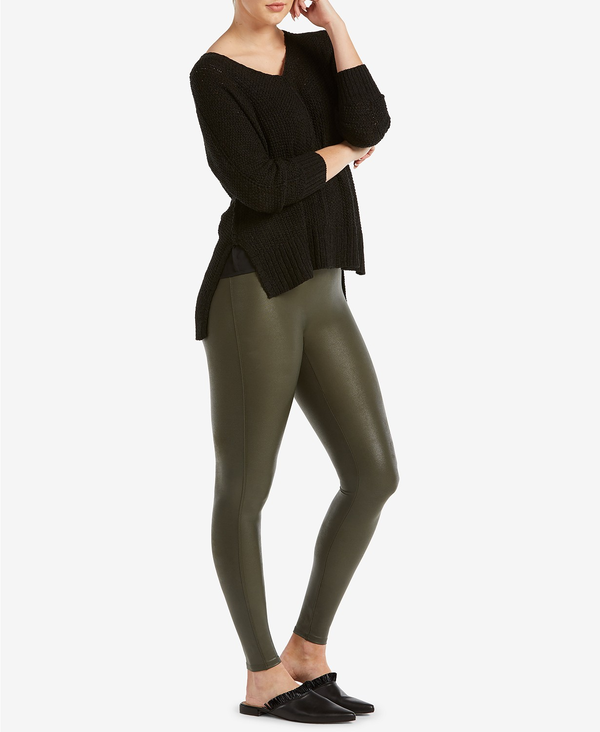 438253f4dccbc Spanx Faux Leather Leggings Everyone Is Obsessed With Are on Sale
