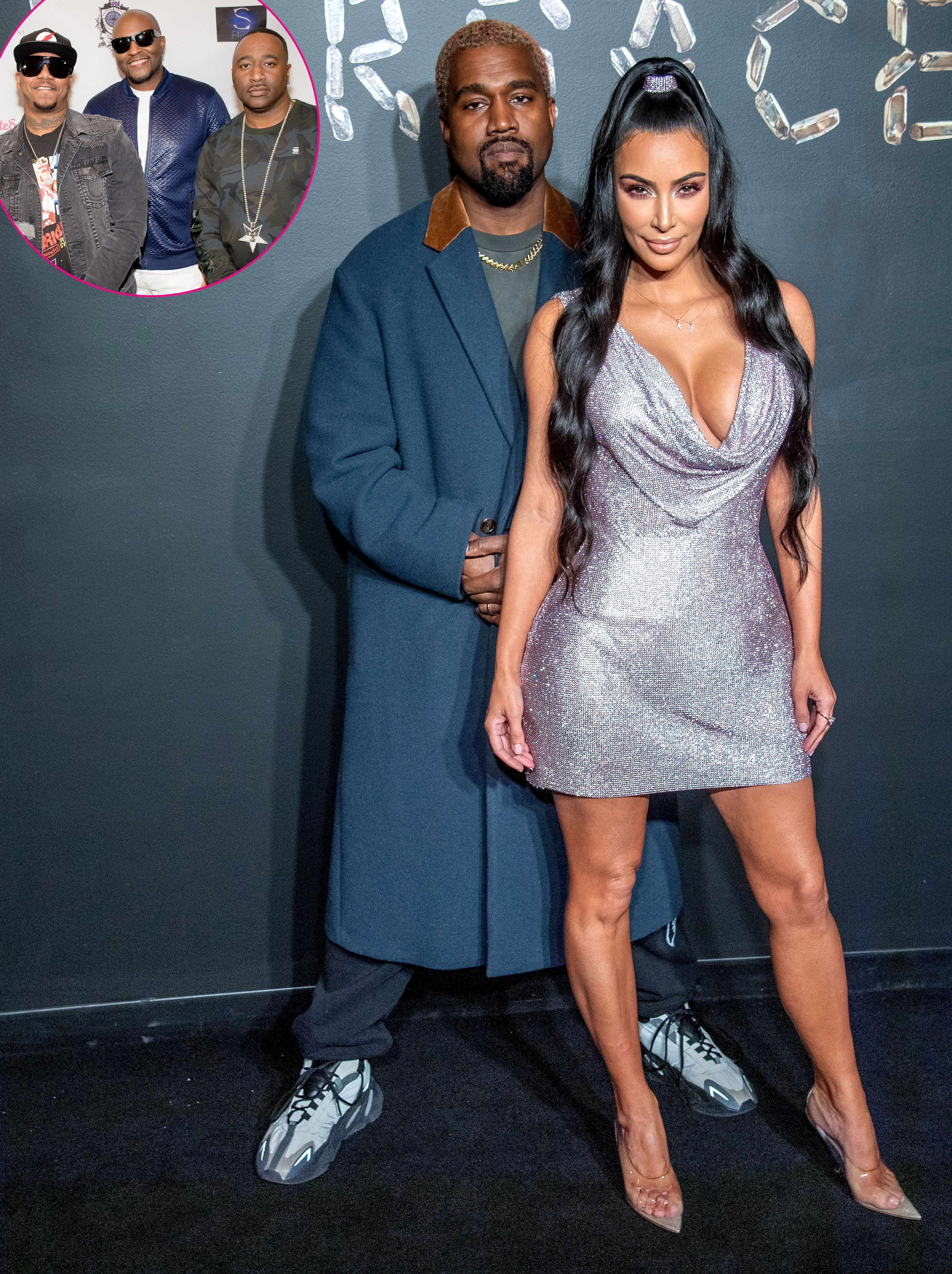 Kanye Surprises Kim With 112 Serenade - Kanye West and Kim Kardashian West attend the Versace fall 2019 fashion show at the American Stock Exchange Building on December 02, 2018 in New York City.