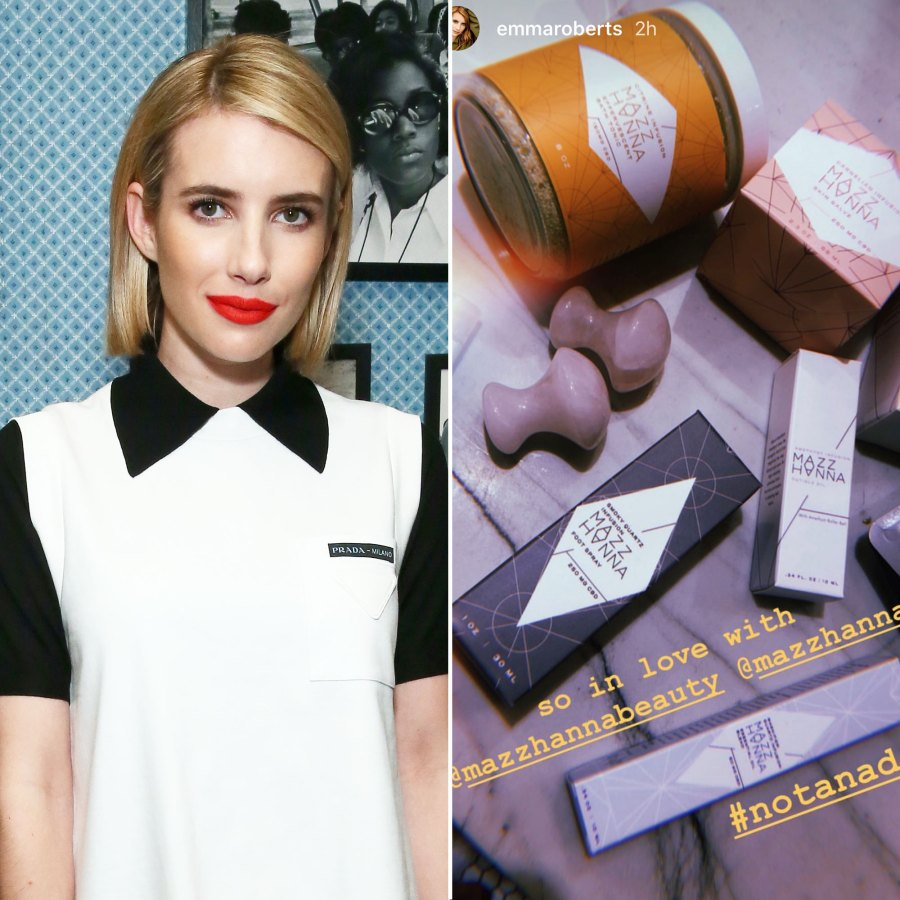 Emma Roberts 5 Celebs Who Swear By CBD-Infused Beauty Products