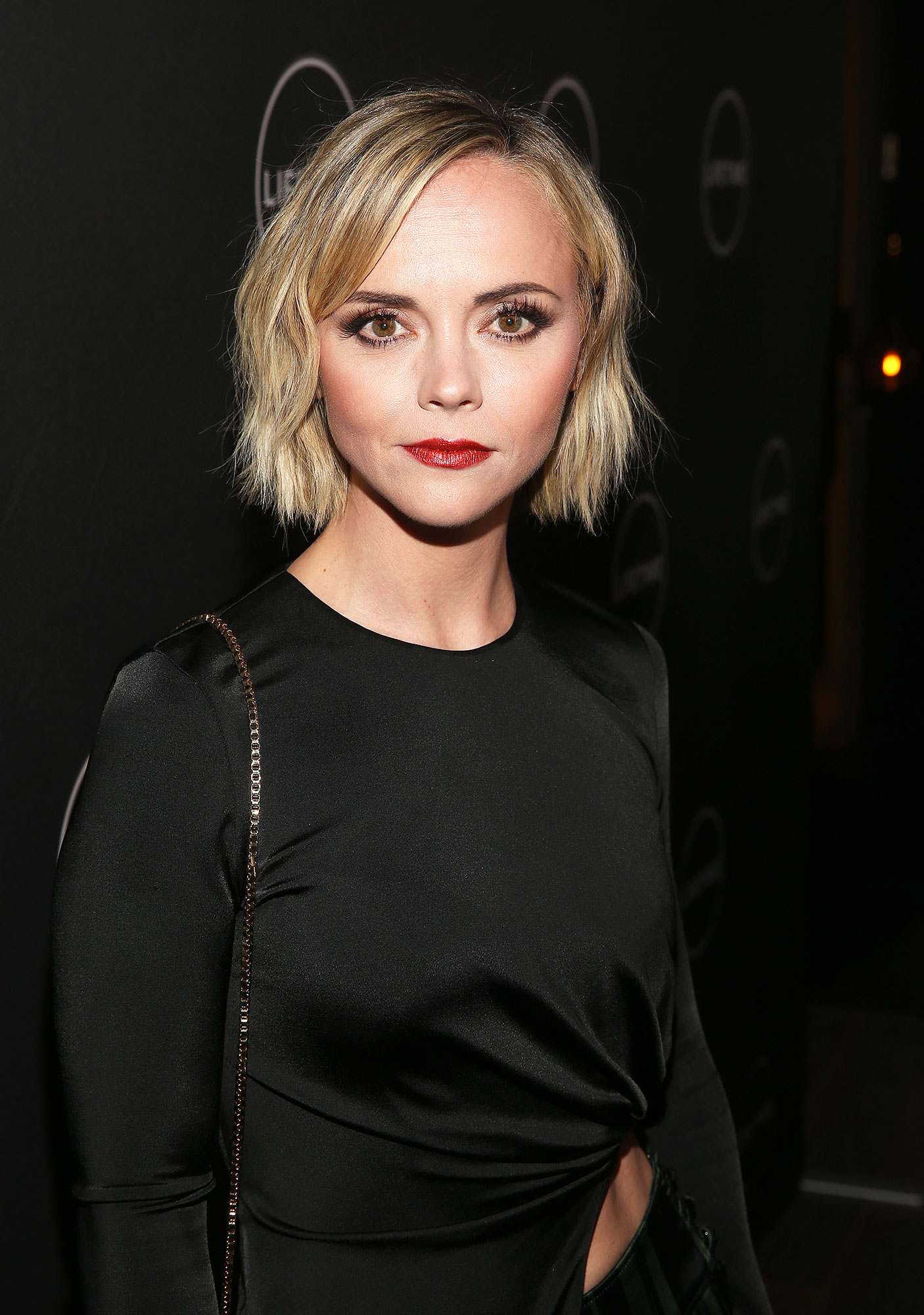 Christina Ricci - While attending the Winter Movies Mixer on January 9, the actress stunned in a shimmery ruby red lipstick.