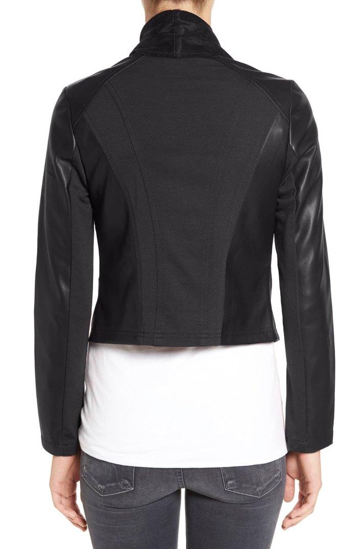 Ana Faux Leather Jacket Back