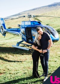 Arie Luyendyk Jr Lauren Burnham Helicopter Tour Hawaii