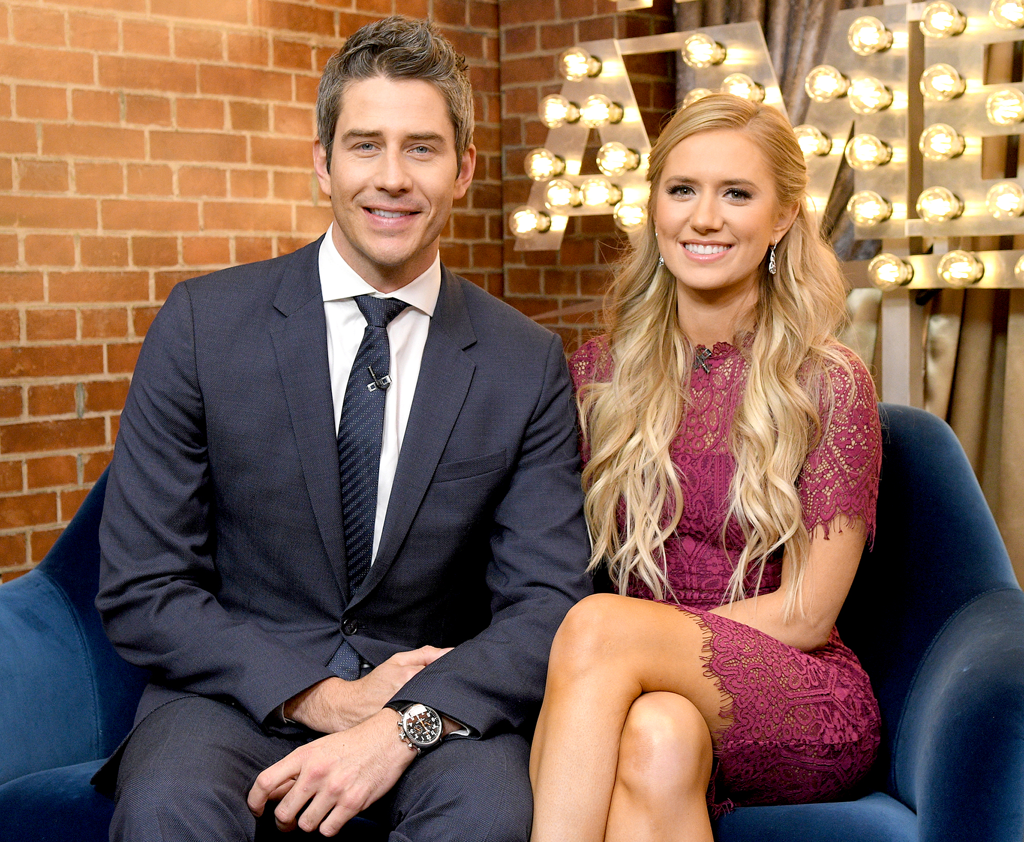 """Arie-Luyendyk-Jr. ,-Lauren-Burnham-Early-Festivities - Burnham and the real estate agent kicked off their pre-wedding celebrations with a helicopter tour of Hawaii in January, days before saying """"I Do."""""""