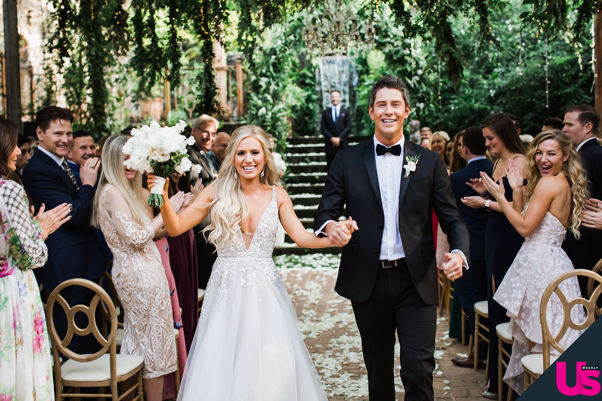 Arie-Luyendyk-Jr. -Lauren-Burnham-quotes - The Bachelorette alum teared up at the sight of his now-wife as she walked down the aisle on January 12, 2019.