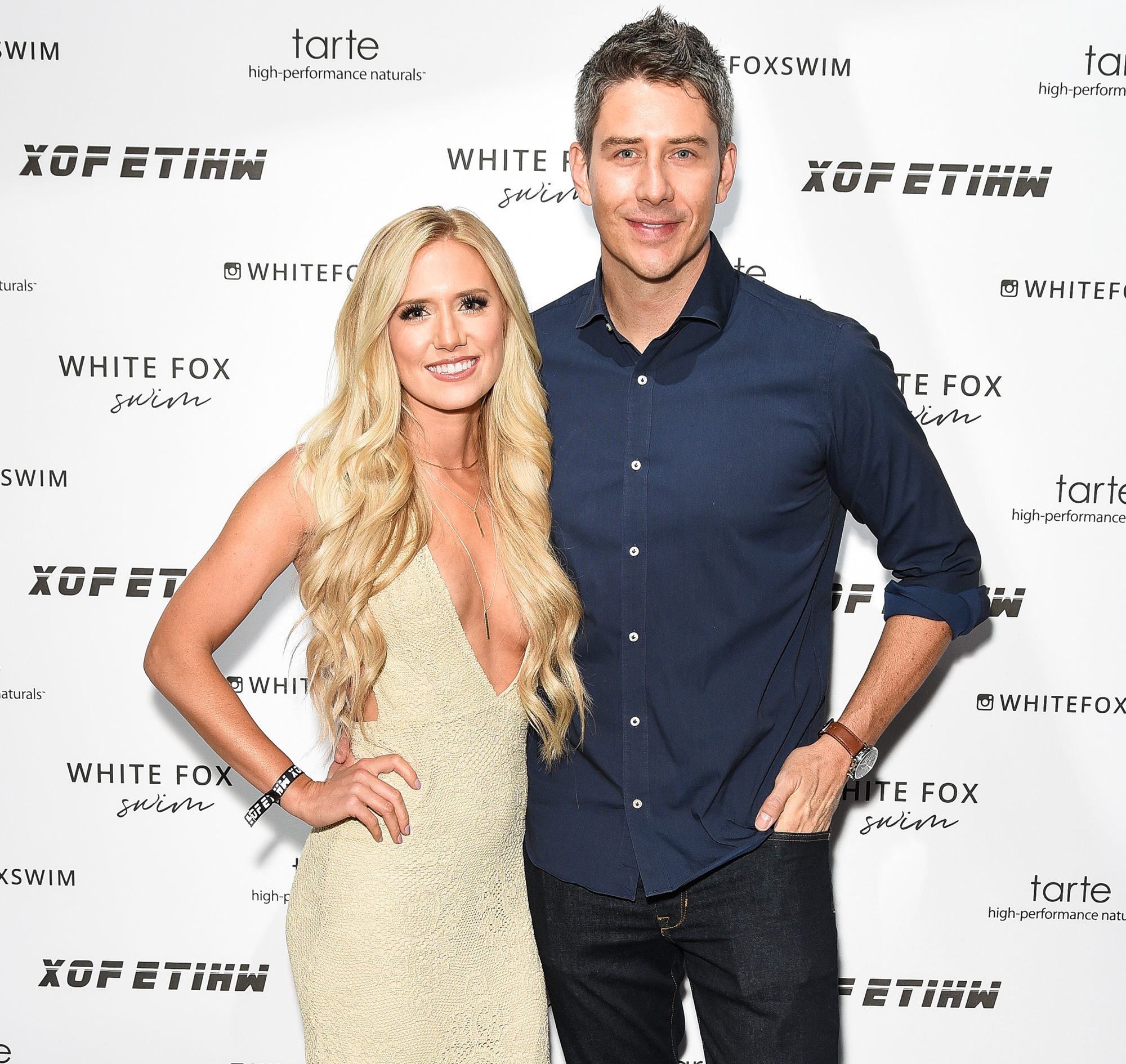 """Arie-Luyendyk-Jr. ,-Lauren-Burnham-wedding-Ceremony - In May 2018, Luyendyk Jr. said on The View that he and Burnham were tying the knot in """"a private wedding"""" that wouldn't be televised."""