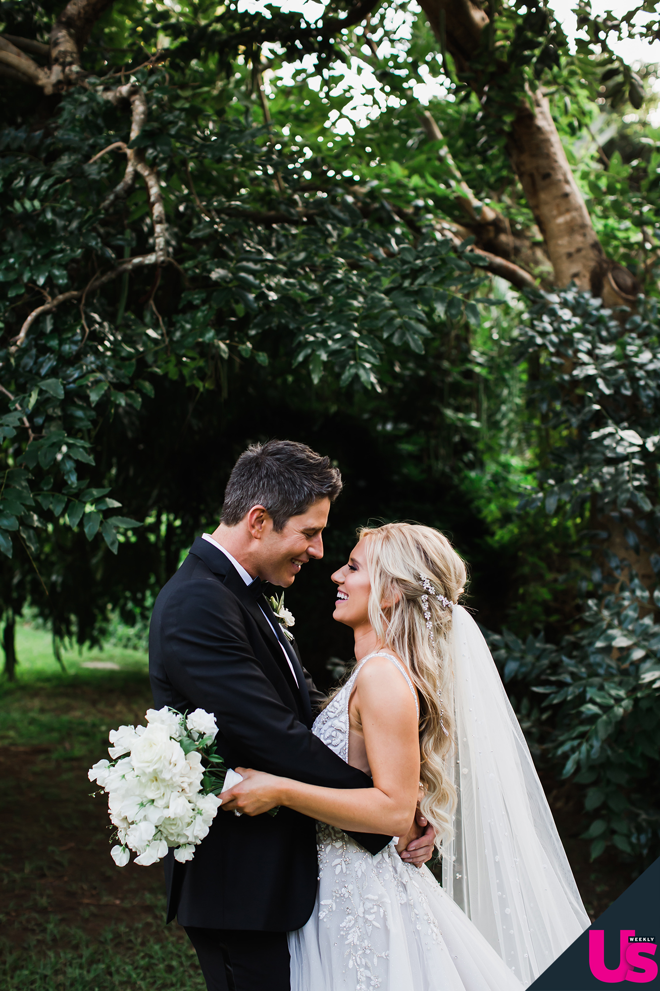 Arie-Luyendyk-Jr. -and-Lauren-Burnham-Wedding - The Netherlands native was surprised that Burnham chose all-white for the bridesmaids, but was most in awe of his wife's gown.