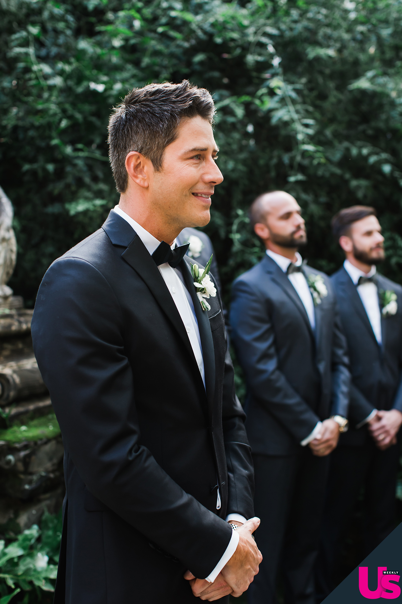 Arie-Luyendyk-Jr. -and-Lauren-Burnham-Wedding - The sales executive originally wanted to do a first look and the photos before the ceremony, but Luyendyk Jr. wanted the first time he saw his bride to be when she walked down the aisle.