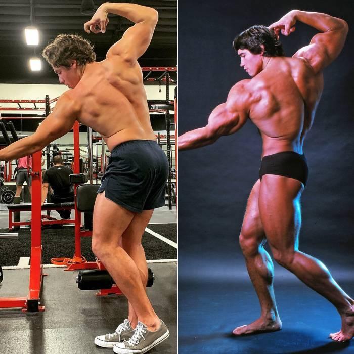 Arnold Schwarzenegger's Son Joseph Baena Recreates Actor's Body Builder Pose