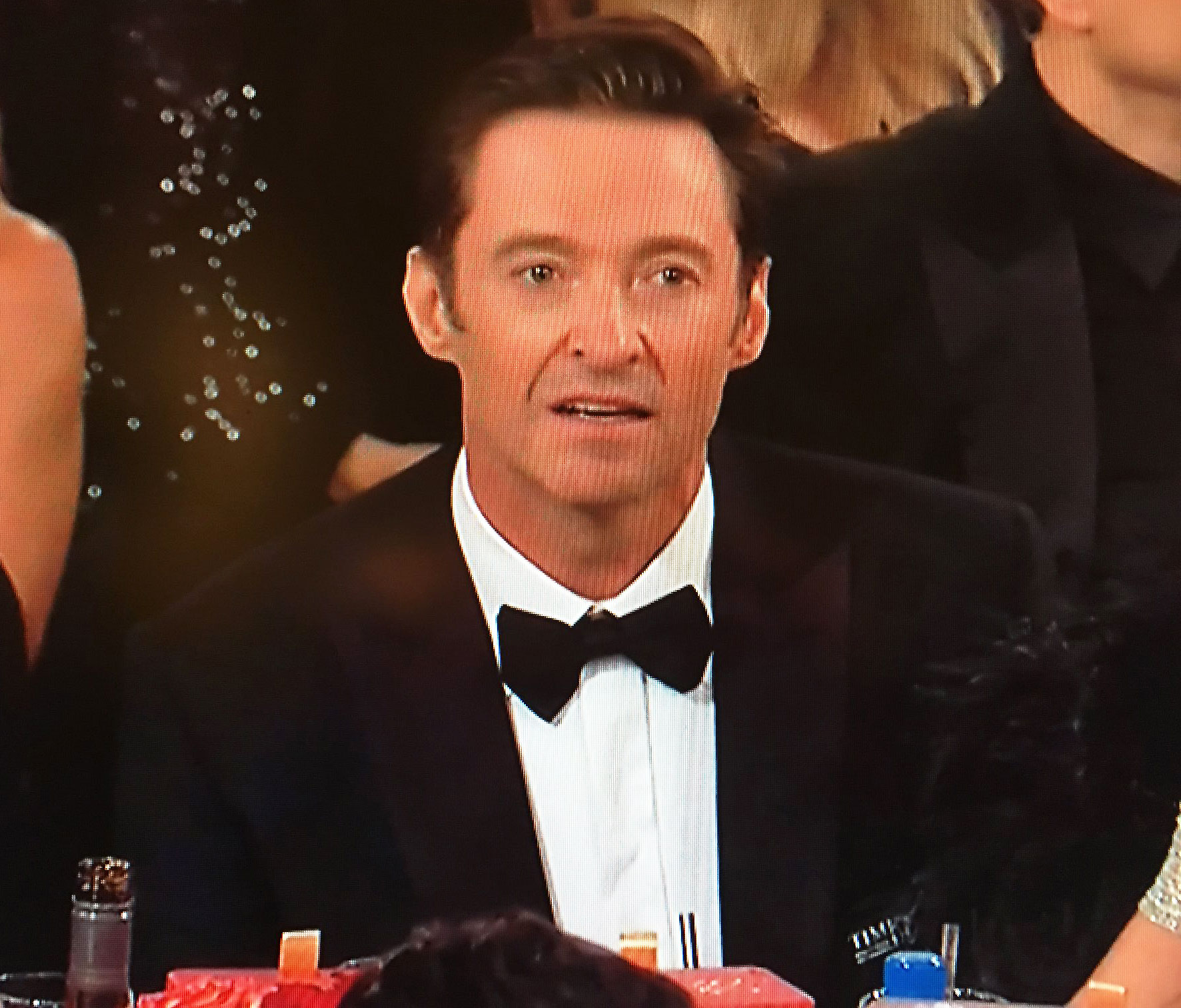 Awards Shows Audience Reactions Hugh Jackman Golden Globes 2018 - The actor couldn't hide his shock after he lost Best Actor in a Motion Picture, Musical or Comedy, to James Franco at 2018 the Golden Globes.