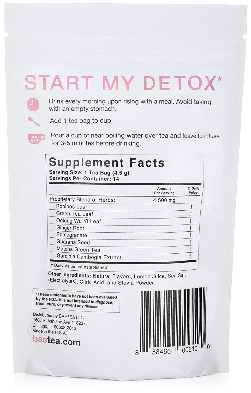Baetea 14-Dat Teatox Detox Herbal Tea Supplement