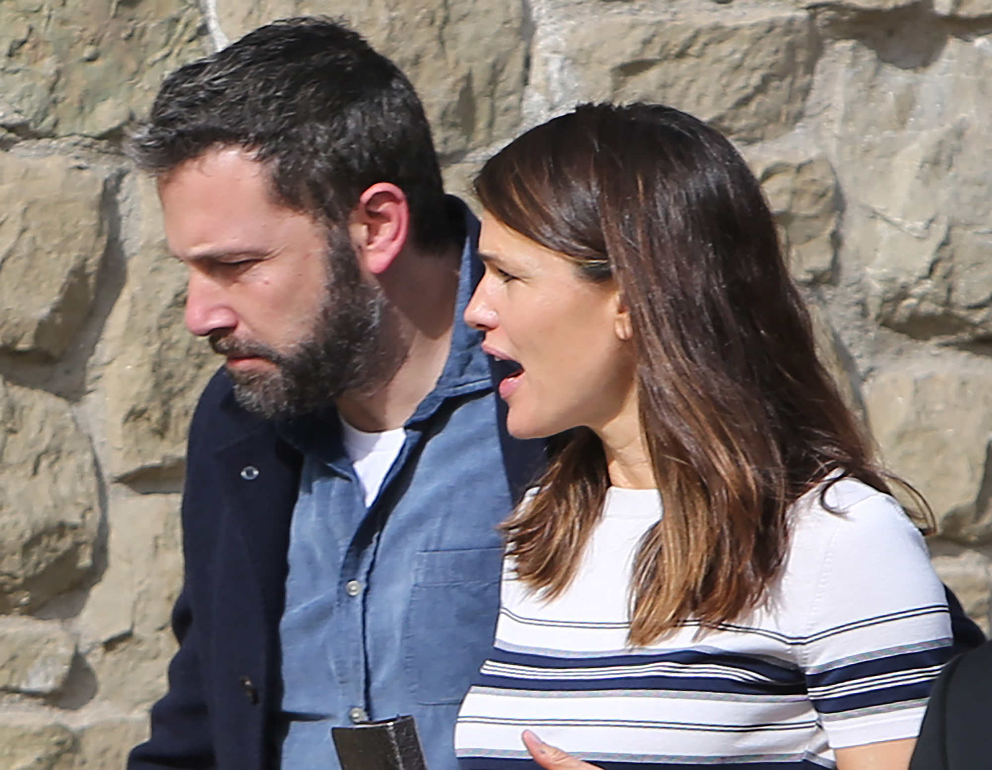 """Ben Affleck and Jennifer Garner Reunite for Family Church Outing 2 Months After Finalizing Divorce - The former couple finalized their divorce in November 2018 , more than three years after announcing their separation. A source previously told Us that Garner was not """"willing to settle the custody issues until she [was] 100 percent certain that [Affleck was] clean."""" (Affleck completed a 40-day rehab stay for alcoholism in October.)"""